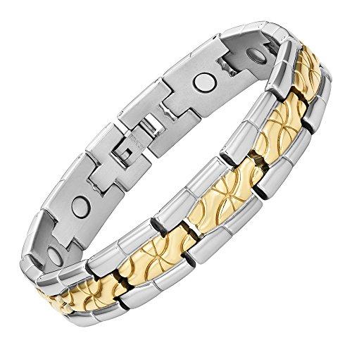 e1542323c30 Willis Judd bracelet aimanté en titane à deux tons pour homme. Tout nouveau  dans une
