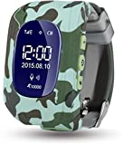 #10: ELEAPIO. Baby Tracker Kid Smart Watch LED Display (Newer Version-2018) Kid Smart Wrist Band Child Safety, SOS Calls, Anti-Lost for Tracking (Camouflage)