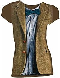 DOCTOR WHO Matt Smith 11th Blue Bow Tie Juniors Shirt