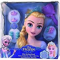 Frozen - Busto peinable de Elsa con accesorios (IMC Toys 16149)