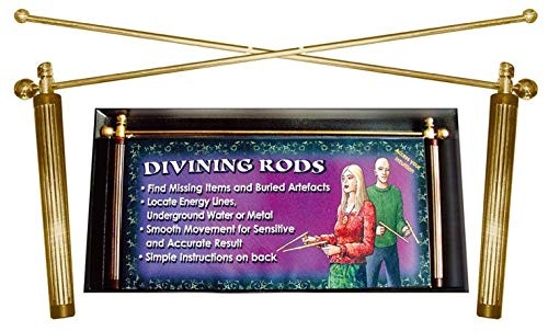 Dowsing Rods with Handles for Ghost Hunting & Gold - Brass - Divining L  Rods as Recommended by Wiccan Raymond Buckland 30 cm / 12 inches Long,  Handles