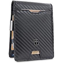 6422ce6d3e TRAVANDO ® Portafoglio Uomo con Clip per Contanti AMSTERDAM - 10 Tasche per  la Carte -