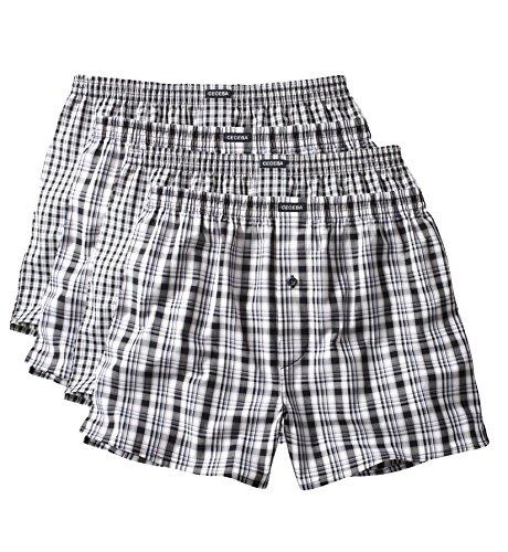 4 Ceceba Boxer Shorts schwarz weiß Schwarz Weiß