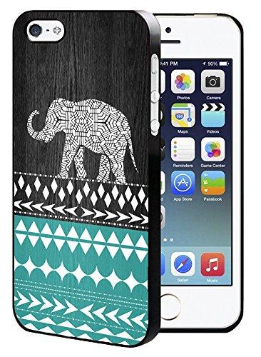 SaiCase Schutzhülle für iPhone 5 / 5S / SE, Motiv Elefant mit Aztekenmuster - 5 Iphone Sprint