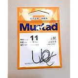 Mustad Iseama Twist Hook 2X Ringed Forged Kirbed 10902SP Fishing Hooks (Pack Of 6 Pcs) (Size: 11)