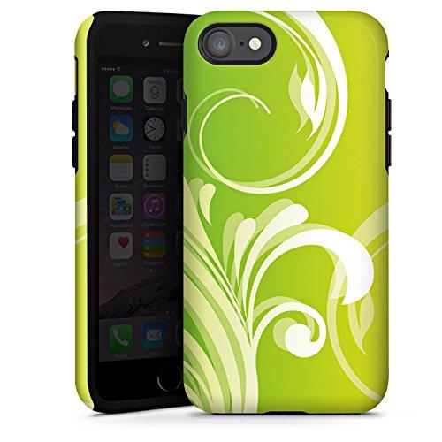 Apple iPhone X Silikon Hülle Case Schutzhülle Blumen Ranken Blätter Tough Case glänzend