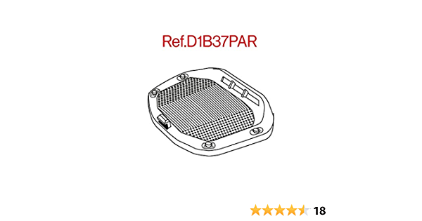 Shad D1b37par Platine Grill Universal Für Truhe Sh37 Schwarz Auto