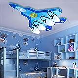 NIHE aeromobili leggeri camera da letto ragazzo LED creative ornamenti degli occhi dei bambini moderni del soffitto telecomandato , 4 head