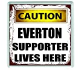 Ecool 10660 Caution EVERTON supporter lives here acrylic drinks coaster