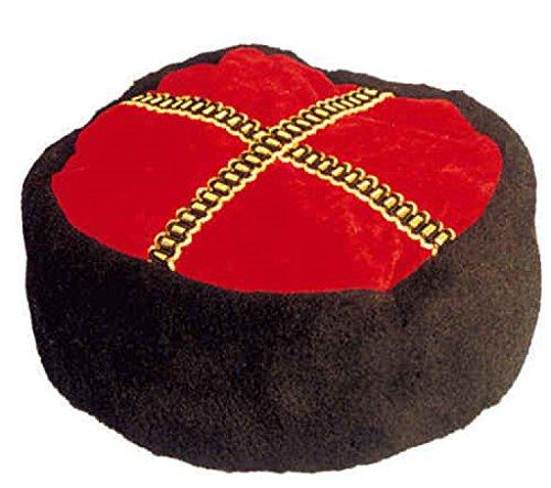 Hut Kosaken Kostüm - O23258 rot-schwarz Damen Herren Kosakenhut Kosakenmütze