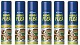 2 x en los hogares de pulgas en de Spray de Aerosol 200 ML diseño de protección contra de pulgas en de olores para frigorífico de perro y gato antipulgas perro y gato de mascotas de juguete con camas individuales de forma sencilla cobertor para sofá o cama Mando de hombre muerto impulsos nerviosos de las pulgas