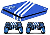 Skin Ps4 SLIM - ADIDAS - limited edition DECAL COVER ADESIVA Playstation 4 Slim SONY BUNDLE