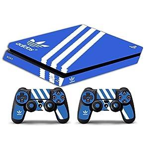 Skin PS4Slim–Adidas–Limited Edition Dekorbogen, Schutzhüllen für FACEPLATES Playstation 4Sony Bundle