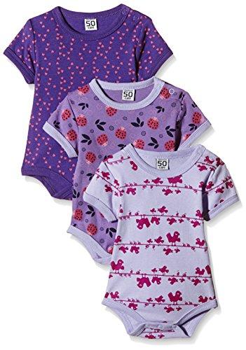 Care Baby - Mädchen Kurzarm-Body 3er und 6er Pack, Rosa (Pink 569), 4 Jahre (Herstellergröße: 104 )
