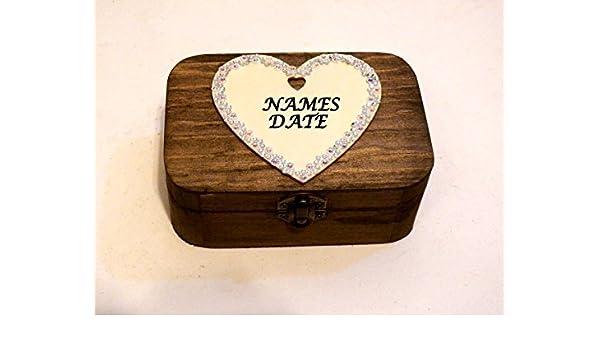 Scatola personalizzata per anelli personalizzazione per matrimonio