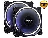 uphere fantastic 120-LED Ventola di Raffreddamento da 120 mm, bianca (Confezione Doppia),4 pin - Best Reviews Guide