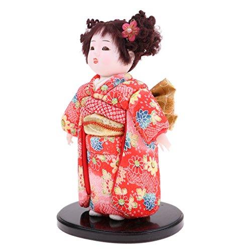 Homyl 9 Zoll Koreanische Geisha / Japanischen Kimono Figur Puppe - Handgemachte Sammlung Spielfigur Dekofigur Sammfigur - Japanischen Kimono Puppe ()