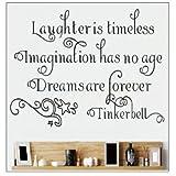 Click Down DIY Laughter Imagination Dream Zitat Wand Papier Kunst Vinyl Aufkleber Aufkleber