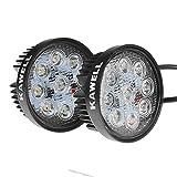KAWELL® 27W LED Arbeitsscheinwerfer Wasserdicht IP67 Nebelscheinwerfer Zusatzscheinwerfer Offroad Scheinwerfer für ATV SUV Traktor Quad