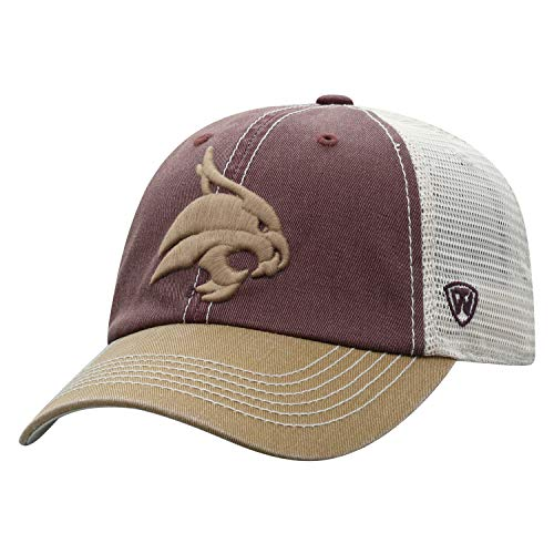 NCAA Herren Offroad-Hut, entspannte Passform, verstellbar, Netzgewebe, Team-Farbsymbol, Herren, Relaxed Fit Adjustable Mesh Offroad Hat Team Color Icon, Texas State Bobcats Maroon, Einstellbar -