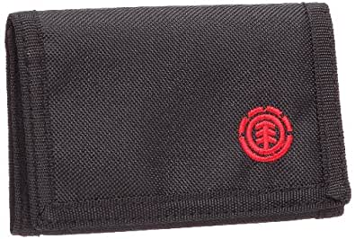Element Logo Wallet, Portefeuille homme - Noir, Polyester