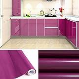 HDM Selbstklebend Klebefolie 500*61 cm (Länge*Breite) recycelbare Dekofolie Selbstklebefolie Möbelfolie, Lila glänzend mit glitzerpartikel auf Oberfläche, Material aus PVC