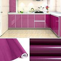 Auralum® 5x0.61 M PVC Küchenschrank-Aufkleber Selbstklebend Küchenfolie Klebefolie Schrankfolie Deko Tapeten Rollen für Küchenschränke Möbel ,Lila