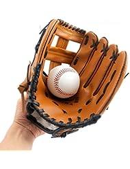 Guantes de béisbol con Suave Piel sintética Gruesa Jarra Softball Guantes para niño/Adolescente/