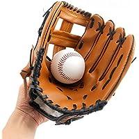 Gants de Baseball avec Cuir PU Solide Doux épaississant Pichet Softball Gants pour Enfant/Ado/Adulte Professionnel Gant de Baseball pour Recueillir–Left Hand Throw Hct24