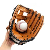 Guanti da Baseball con Morbido Solido PU Ispessimento brocca Softball Guanti per Bambini/Ragazzi/Adulti Professionale Baseball Guanto per la Cattura – Left Hand Throw HCT24, S:10.5Inches