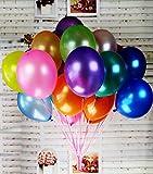 Aiernuo 100 Pcs Palloncini Colorati Gonfiabili in Lattice 10 Pollici per Feste e Compleanni Decorazioni Matrimonio - Colori Assortiti