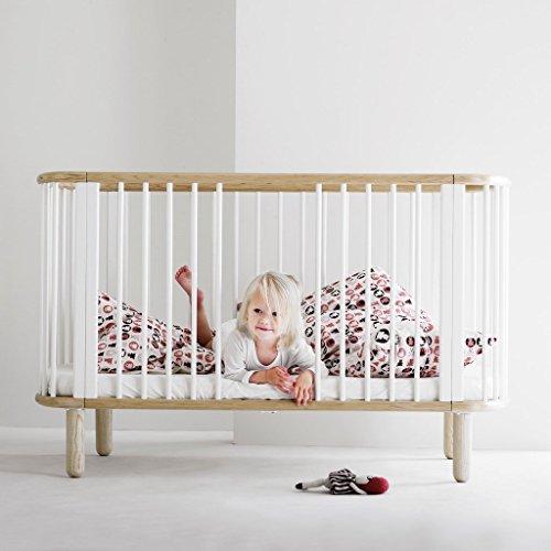 *Flexa mitwachsendes Baby- & Kinderbett aus Buchenholz in weiss, TÜV-geprüft (0-6 Jahre)*