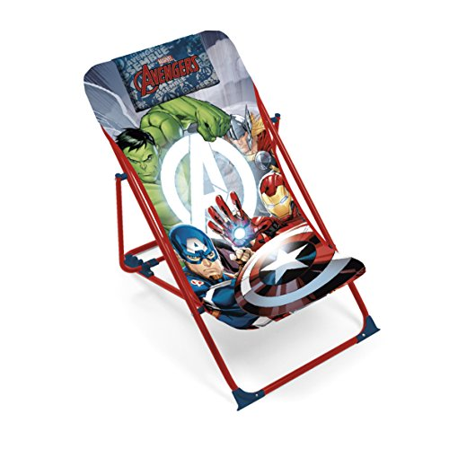 Arditex–Sillón de jardín/Playa ajustable y plegable para niños bajo licencia Avengers en metal, tamaño: 43x 66x 61cm, tela, 61x 43x 66cm)