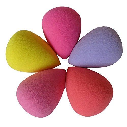 Asien Les éponges de souffle de base de mélangeur de maquillage facial de beauté couleurs de hasard (forme de baisse de 6pc)