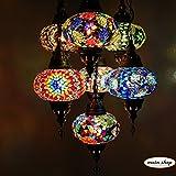 mosaico–Lámpara de techo mosaico lámpara lámpara de techo Turco Marrakesch–Lámpara de techo 7grandes bolas