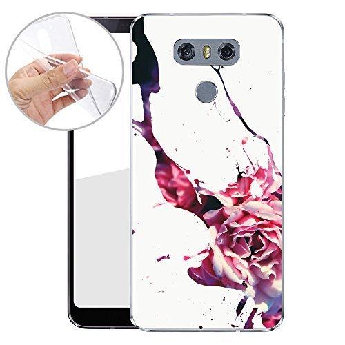Finoo TPU Handyhülle für dein LG G6 Made In Germany Hülle mit Motiv und Optimalen Schutz Silikon Tasche Case Cover Schutzhülle für Dein LG G6 - Blumen Fleck 04