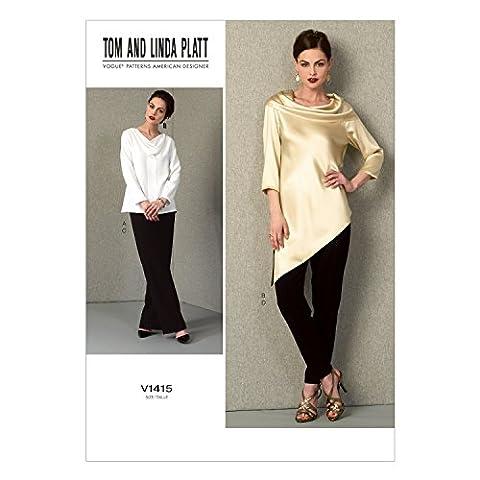 Vogue Patterns 1415 8–10–B5 Patrons de tuniques et Pantalons pour femme Tailles 42 à 46