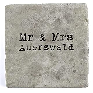 Mr & Mrs Auerswald - Single Marble Tile Drink Coaster