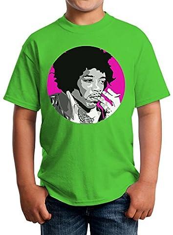 Jimmi Hendrix Purple Haze Circled Design Kids Unisex T-shirt 5-13 Ages Large