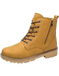 Zarupeng Los Hombres del Tobillo Bajo Recortar el Tobillo Plano Botas de Otoño Invierno Casual Martin Shoes (39, Negro)