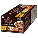 Wellness CORE Hund Tender Filets Getreidefreies Nassfutter, Geflügel Selection Multipack, 4 x 170 g Schalen