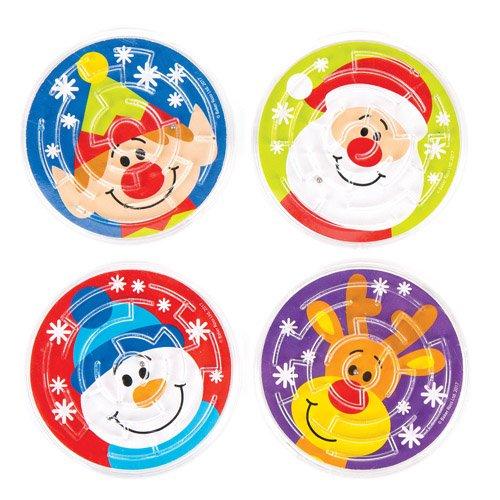 Baker Ross Labyrinth-Spiele Festliche Freunde für Kinder – Zum Spielen und als Geschenk für Kinder zu Weihnachten (8 Stück)