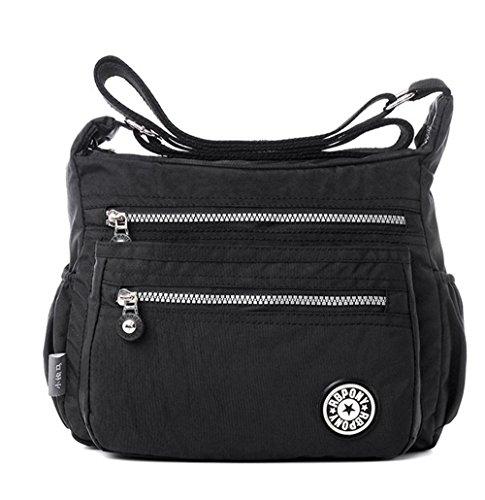 Damen Damen Handtasche Hobo Schulter CrossBody Messenger Tragetasche Wasserdichte Multi-Tasche , athens black