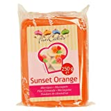 FunCakes mandelhaltige Zuckermasse Sunset Orange, 1er Pack (1 x 250 g)