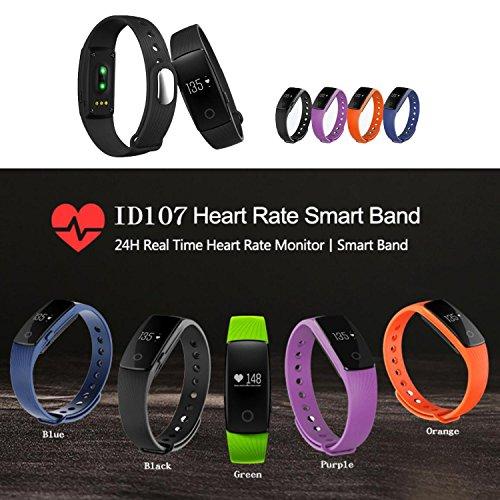 KOBWA Fitness-Tracker-Herzfrequenz Fitnessarmband- Pulsuhr Aktivitätstracker Wasserdicht- Smart Bracelet - Smartwatch für Android Smartphone und IPhone IOS,Schrittzähler, Kalorienzähler, Schlaf-Monitor,Push-Message und Anrufer - ID Benachrichtigung -