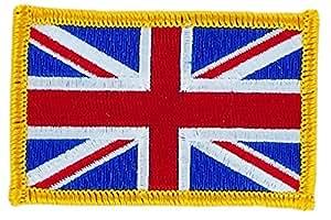 Patch écusson brodé drapeau union jack anglais uk royaume unis thermocollant