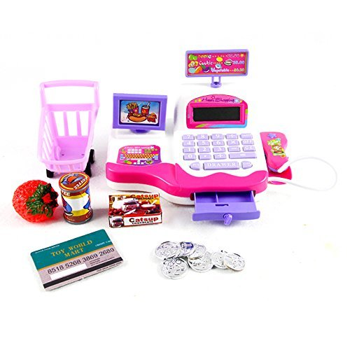 babrit-grown-pretend-play-electronic-cash-register-toy-realistic-actions-sounds-pink