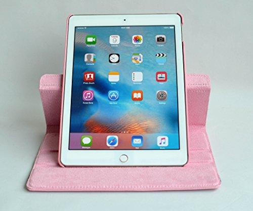 inShang iPad air 2 ipad 6 Housse (iPad 2014-2015 Version) Etui Smart Cover Pour Tablette iPad6 PU cuir, - Fait automatiquement passer en mode veille et sortir du mode veille votre, Coque Avec Support Pink