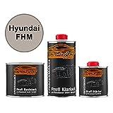 TRISTARcolor Autolack Set Dose spritzfertig für Hyundai FHM Hyper Metallic/Hyper Silver Metallic Basislack + 2K Klarlack 1,25L