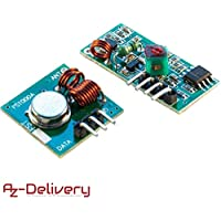 AZDelivery ⭐⭐⭐⭐⭐ Wireless Transmitter and Receiver 433 MHz Module Set for Arduino and Raspberry Pi